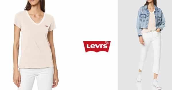 Camiseta de mujer Levi's Vneck barata, camisetas baratas, ofertas en ropa de marca, chollo