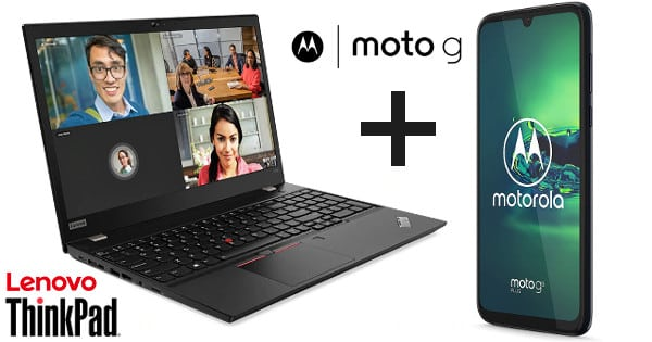 Lenovo ThinkPad T590 + móvil Moto G8 Plus, chollo
