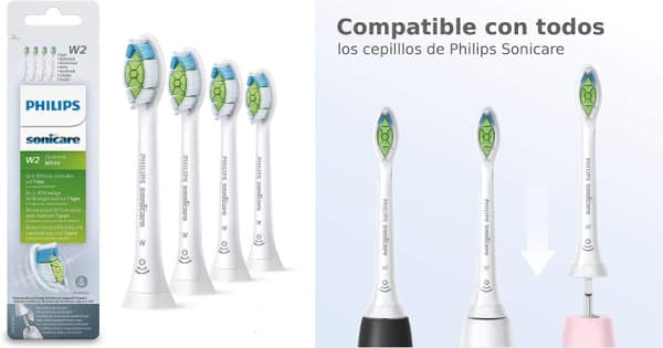 Pack de 4 recambios Philips Sonicare baratos, cabezales baratos, chollo