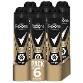 Pack de desodorantes Rexona Football Edition Laliga barato. Ofertas en supermercado