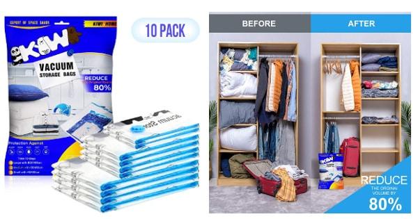 Bolsas de almacenaje al vacío Kiwihome, bolsas para ropa baratas, ofertas casa, chollo