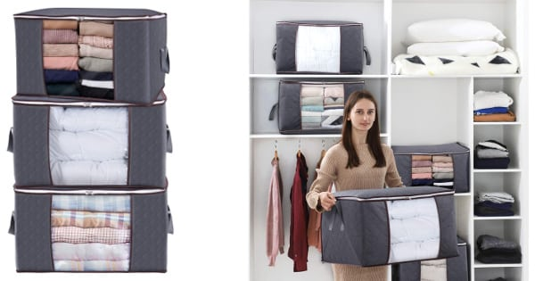 Bolsas para almacenar ropa Lifewit baratas, bolsas para ropa baratas, ofertas para casa, chollo