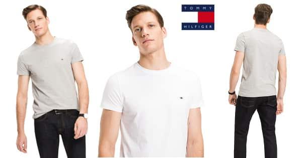 Camiseta básica Tommy Hilfiger Core Stretch Slim barata, camisetas baratas, ofertas en ropa de marca, chollo