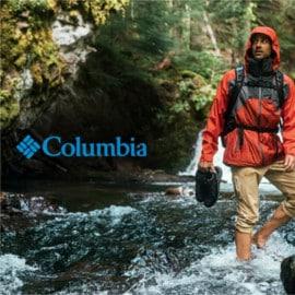 Campaña de Columbia en PSS. Ofertas en ropa de marca, ropa de marca barata