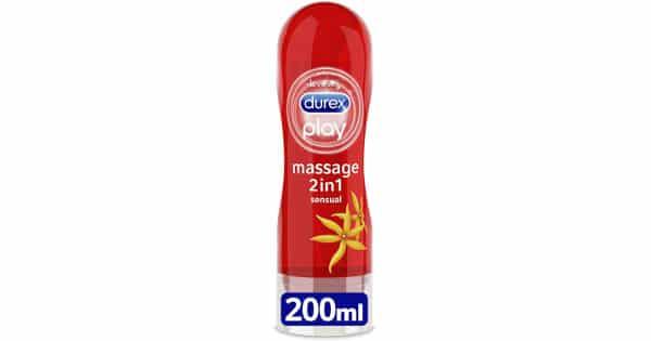 Lubricante Durex Massage 2 en 1 barato, lubricantes baratos, chollo
