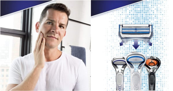 Maquinilla y recambios Gillette Skinguard.