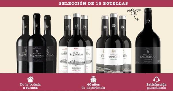 Pack de 10 botellas de vino Cofradía Solar de Samaniego barato. Ofertas en vino, vino barato, chollo