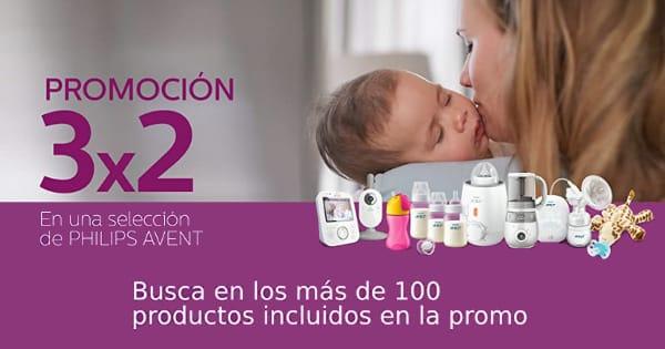 Promoción 3x2 en artículos para bebé Philips Avent. artículos para bebé baratos, ofertas niños