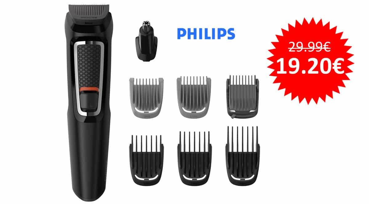 ¡¡Chollo!! Recortador 8 en 1 Philips MG3730/15 sólo 19.20 euros.