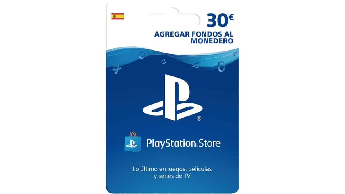 Tarjeta prepago PS Store de 30 euros, chollo