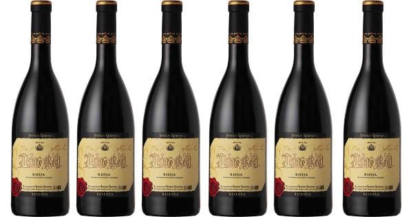 6 botellas de Monte Real 2016 barato, vino barato, chollo