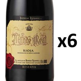 6 botellas de Monte Real 2016 barato, vino barato