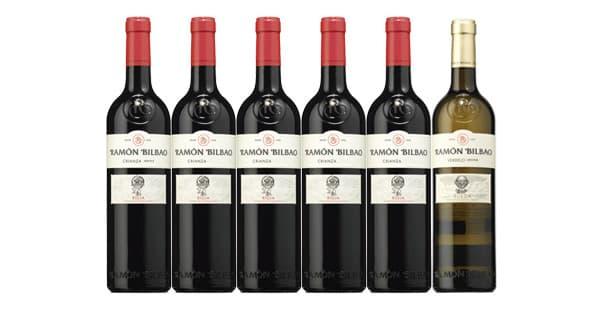5 botellas de vino Ramón Bilbao Rioja + 1 botella de Ramón Bilbao Verdejo