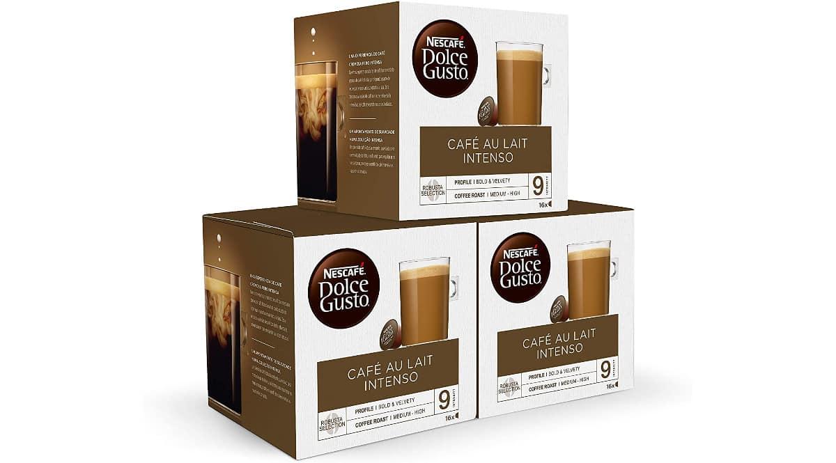 Cápsulas café Nescafé Dolce Gusto intenso baratas, café de marca barato, ofertas en supermercado, chollo