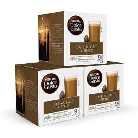 Cápsulas café Nescafé Dolce Gusto intenso baratas, café de marca barato, ofertas en supermercado