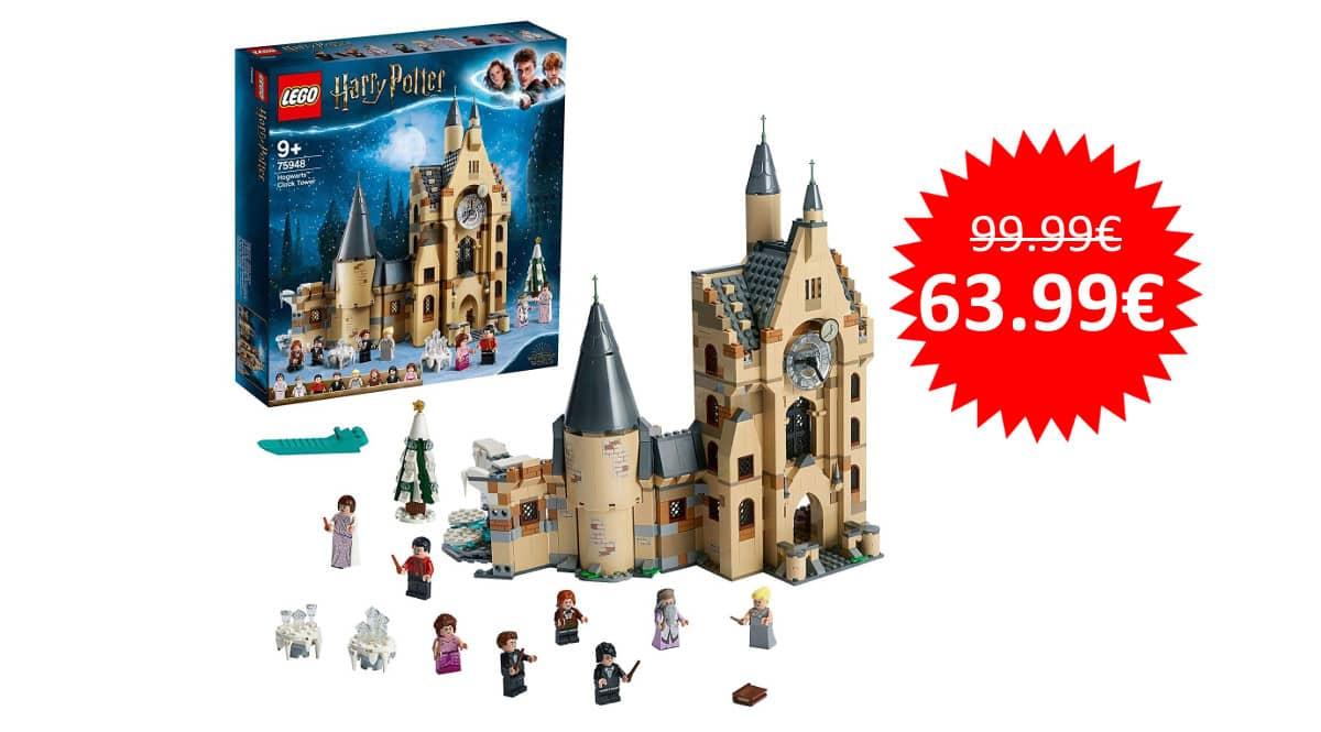 ¡Precio mínimo histórico! LEGO Harry Potter Torre del Reloj de Hogwarts sólo 63.99 euros.