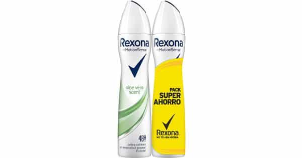 Pack de 2 desodorantes Rexona Aloe Vera baratos, ofertas supermercado, chollo