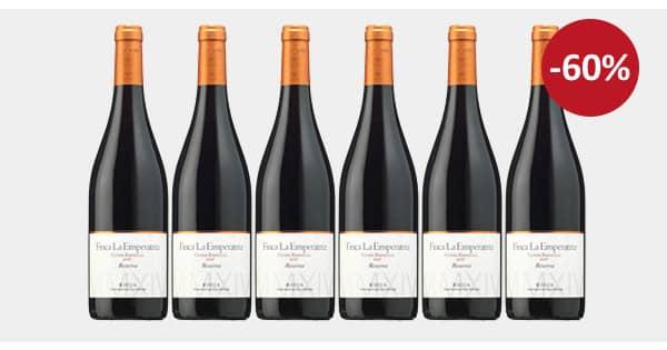 Pack de 6 botellas Finca La Emperatriz Cuvée Especial Rioja Reserva 2016 barato, vino barato, chollo