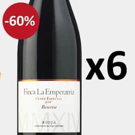 Pack de 6 botellas Finca La Emperatriz Cuvée Especial Rioja Reserva 2016 barato, vino barato