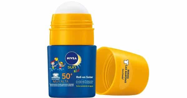 Protector solar en Roll-On Nivea para niños barato, cremas solares baratas, ofertas niños,chollo