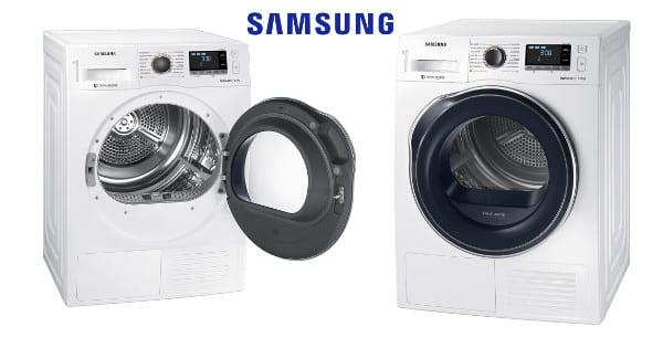 Secadora de bomba de calor Samsung Serie 6 DV90M6200CW barata, secadoras baratas, chollo