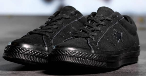 Zapatillas Converse One Star Suede Triple Black baratas, calzado barato, ofertas en zapatillas chollo