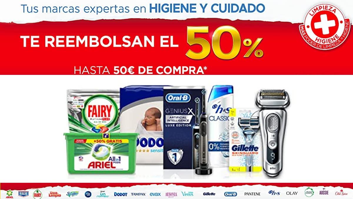 Ahorra en productos de higiene y cuidado P&G, Ofertas en Fairy, Dodot, Ariel, Gillette, ofertas supermercado, chollo