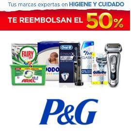 Ahorra en productos de higiene y cuidado P&G, Ofertas en Fairy, Dodot, Ariel, Gillette, ofertas supermercado