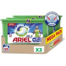 Detergente en cápsulas Ariel Allin1 Pods Active Odor Defense barato, ofertas supermercado
