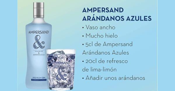 Ginebra premium Ampersand sabor arándanos barata, ginebras baratas, chollo