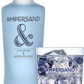 Ginebra premium Ampersand sabor arándanos barata, ginebras baratas