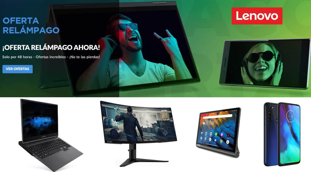 ¡Lenovo Flash Sale! Descuentos en portátiles, ordenadores de sobremesa, móviles, tablets, monitores y accesorios Lenovo.