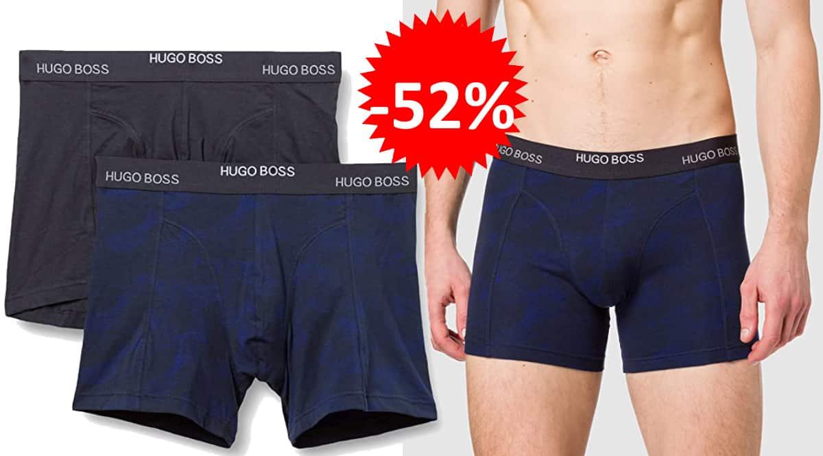 Pack de 2 bóxers Hugo Boss Brief baratos, calzoncillos de marca baratos, ofertas en ropa interior, chollo