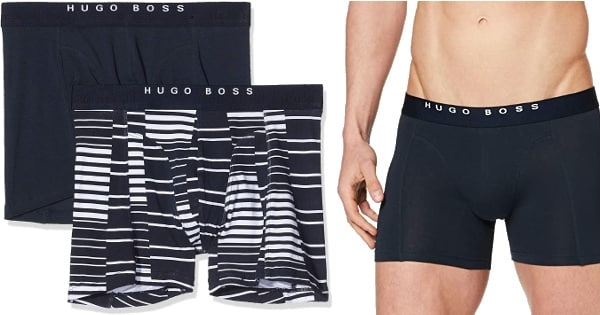 Pack de 2 boxers Hugo Boss baratos, ropa interior barata, ofertas en calzoncillos chollo