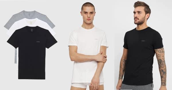 Pack de 3 camisetas Diesel baratas, ropa de marca barata, ofertas en camisetas chollo 2