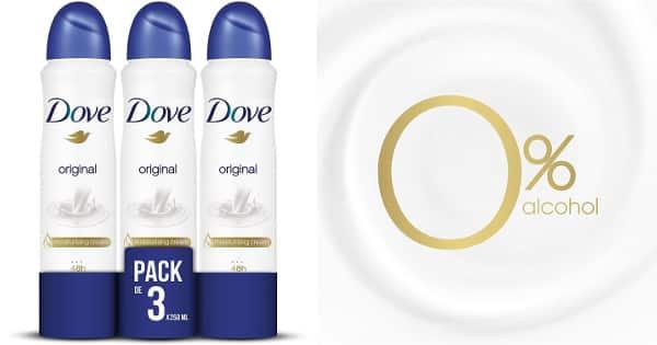 Pack de 3 desodorantes Dove original baratos, desodorante barato, ofertas supermercado, chollo