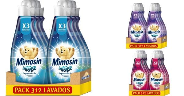 Pack de 6 suavizantes Mimosín Intense barato, suavizantes para ropa baratos, ofertas supermercado, chollo