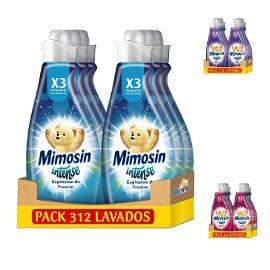 Pack de 6 suavizantes Mimosín Intense barato, suavizantes para ropa baratos, ofertas supermercado