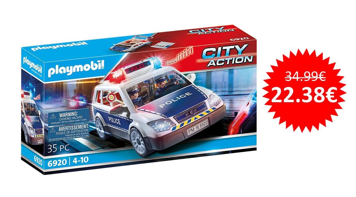 ¡¡Chollo!! Playmobil City Action Coche de Policía con Luces y Sonido sólo 22 euros.