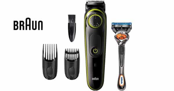 Recortadora de barba Braun BT3241 y maquinilla Gillette Fusion5 ProGlide barato, barberos baratos, chollo