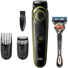 Recortadora de barba Braun BT3241 y maquinilla Gillette Fusion5 ProGlide barato, barberos baratos
