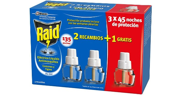 3 recambios Raid para difusor eléctrico antimosquitos baratos, antimosquitos baratos, chollo
