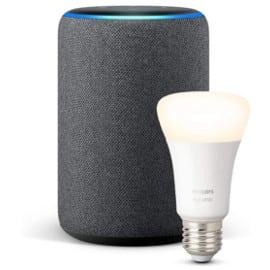 Altavoz Echo Plus con bombilla Philips Hue barato. Ofertas en altavoces, altavoces baratos