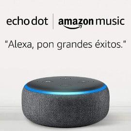 Amazon Echo Dot + 1 mes de Amazon Music Unlimited barato, altavoces baratos