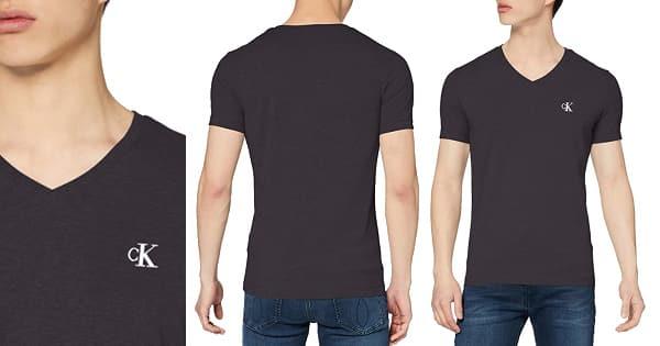 Camiseta Calvin Klein Essential negra barata, ropa de marca barata, ofertas en camisetas chollo