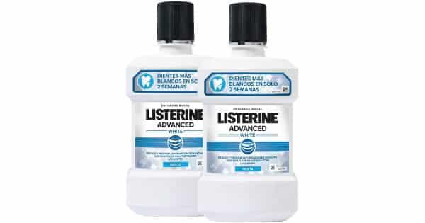 Enjuague bucal Listerine Blanqueador Avanzado 1L barato, Listerine barato, chollo