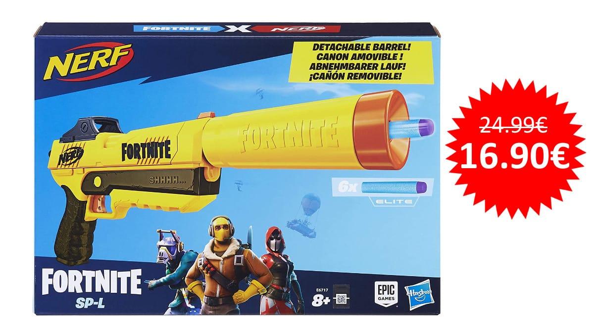 ¡¡Chollo!! Lanzador Nerf Fortnite SP sólo 16.90 euros.