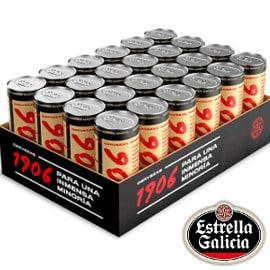 Pack de 24 latas (33cl) Estrella Galicia 1906 Reserva Especial barato, cerveza barata