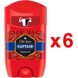 Pack de 6 desodorantes para hombre Old Spice Captain baratos, desodorante barato, ofertas supermercado