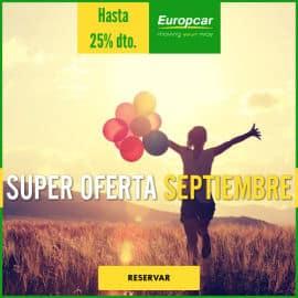Súper oferta de septiembre en Europcar, alquiler de coches baratos, coches de alquiler baratos
